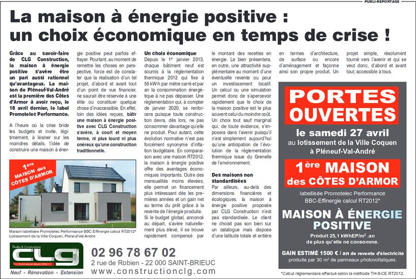 La maison à énergie positive : un choix économique en temps de crise ! 0