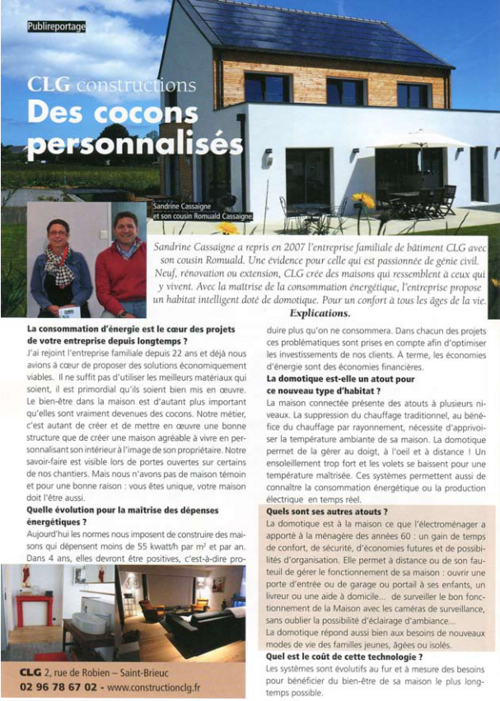 CLG Construction : maisons neuves, extensions, rénovations