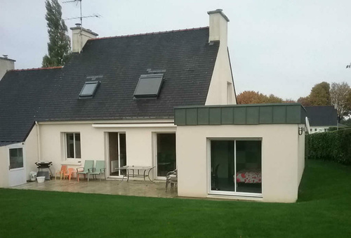 Extension maison : création chambre et salle d''eau - 25 m²