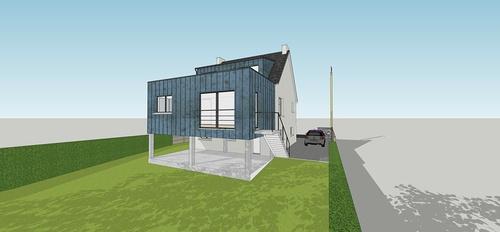 Extension et rénovation: séjour - chambres -salle de bain - 29 m2