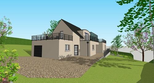 Extension d''une maison - Séjour, chambres, cuisine, salle de bain et garage -100m²