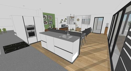 En savoir plus sur les plans / projet de la maison passive - projet Plaintel