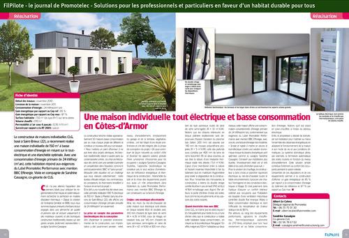 Une maison individuelle tout électrique et basse consommation en Côtes d''Armor