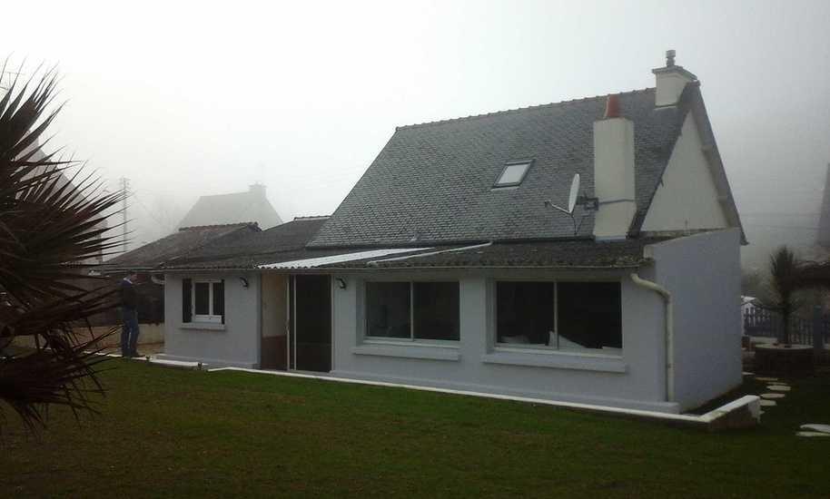 Extension et rénovation d''une maison - Séjour, chambres - 45m² photochopin3