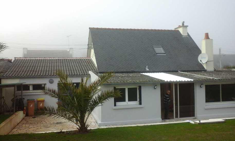 Extension et rénovation d''une maison - Séjour, chambres - 45m² photochopin4
