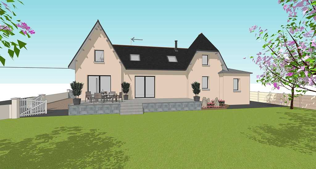 Extension d''une maison - Chambres, salle de bain et buanderie -32m² visuelguillerm2