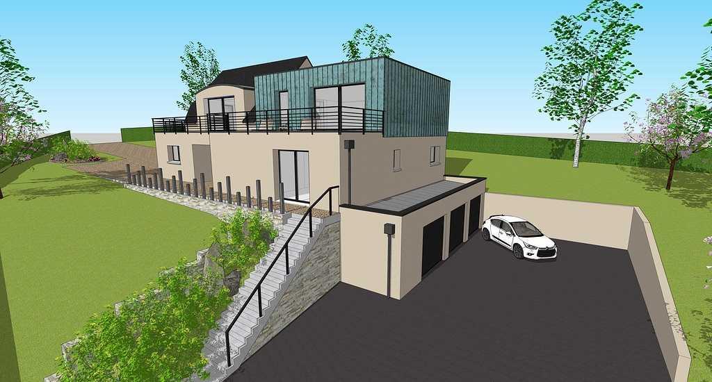 Extension d''une maison - Séjour, chambres, cuisine, salle de bain et garage -100m² 5