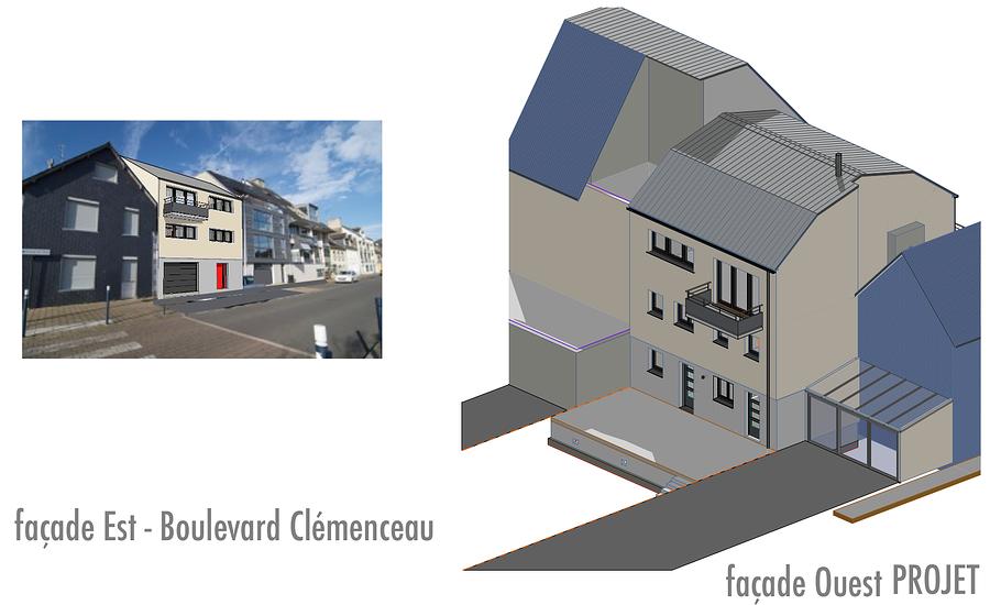 Projet de construction - Binic projetboulevardclemenceau2