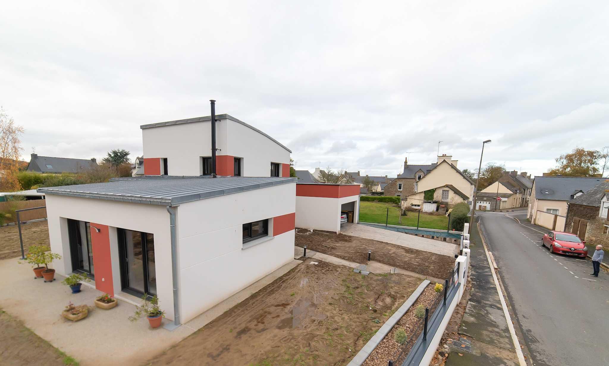 Maison Contemporaine 140 M2 Acces Plain Pied 2 Niveaux