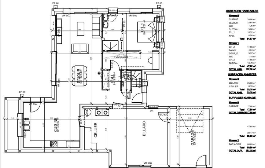 Maison 133 m² - contemporaine avec étage - Lamballe ap12-2
