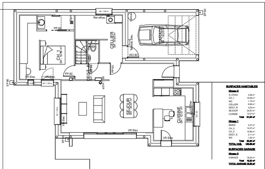 Maison contemporaine - toits 4 pans- 212 m²- Pléneuf Val André pr2