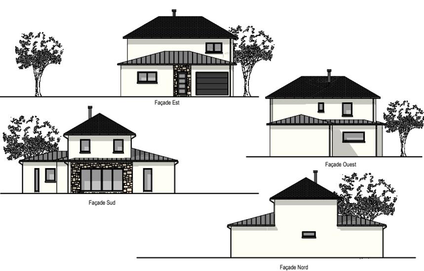 Maison contemporaine - toits 4 pans- 212 m²- Pléneuf Val André 0