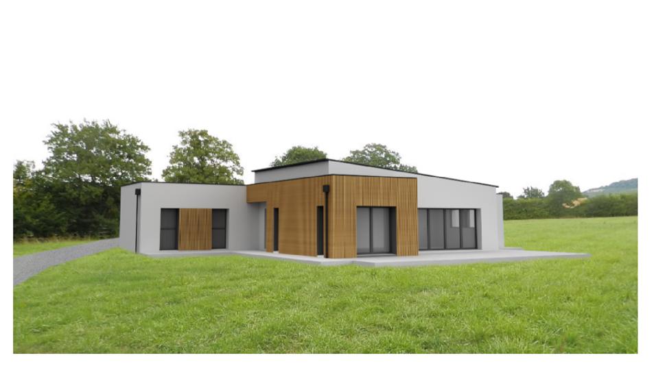 Maison plain-pied - modules contemporains -136 m²-CLEDEN POHER 0