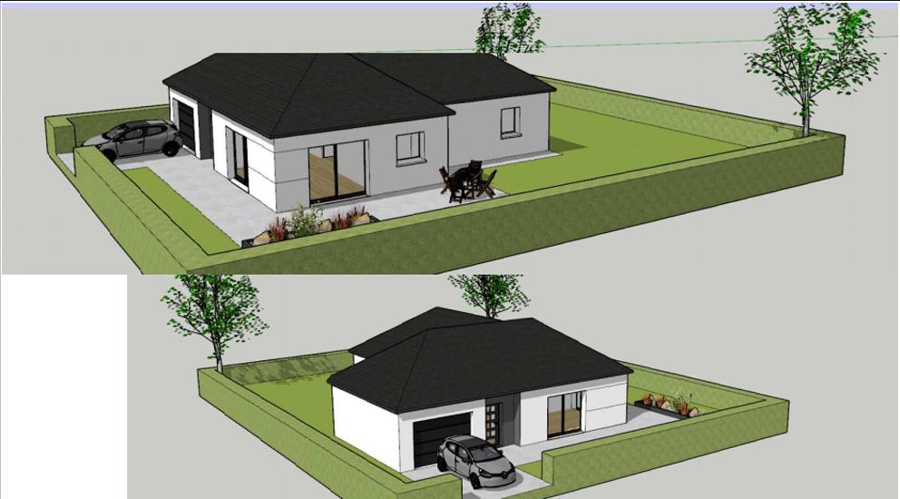 Maison plain-pied - toits 4 pans - 91 m² - Plouguenast 0