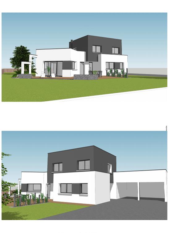 Maison contemporaine toits plats - 150 m² - Erquy pr1
