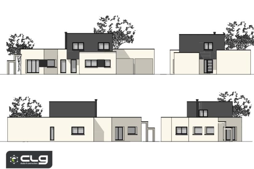 Maison contemporaine toits plats - 150 m² - Erquy pr2