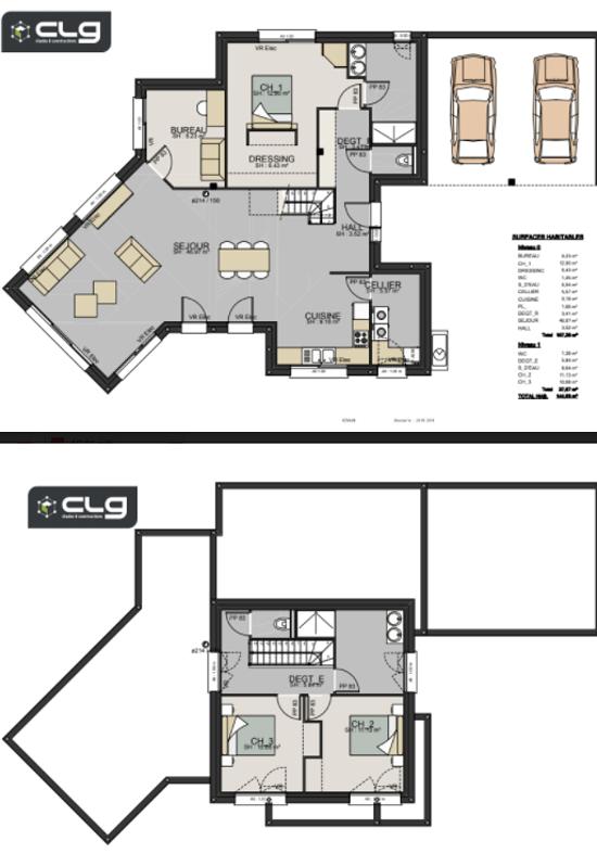 Maison contemporaine toits plats - 150 m² - Erquy pr3