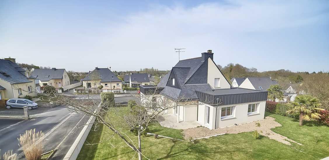 Reportage photos : extension maison contemporaine - Plaintel 0