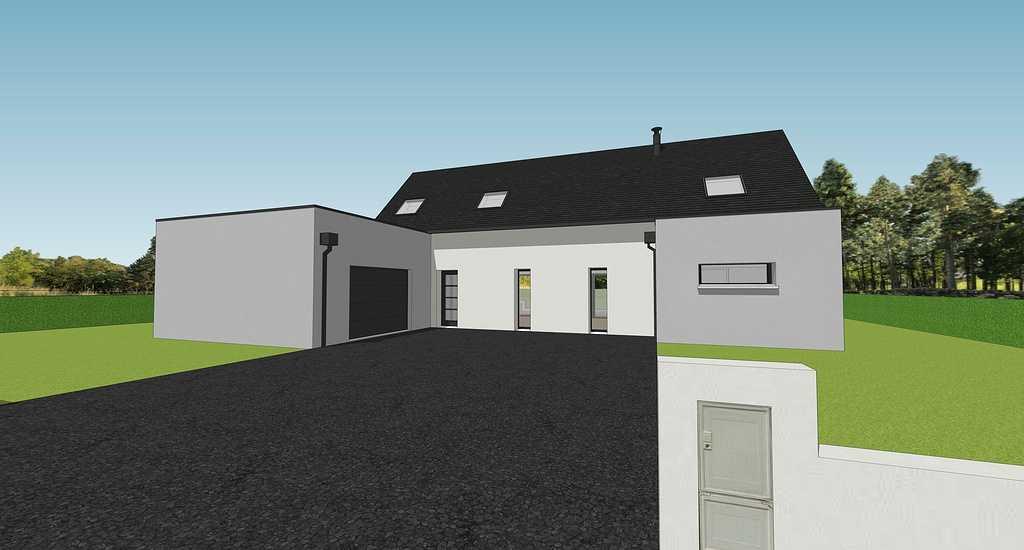 Projet maison sur 2 niveaux avec mezzanine - 155 m² - Sain-Cast-Le- Guildo 13