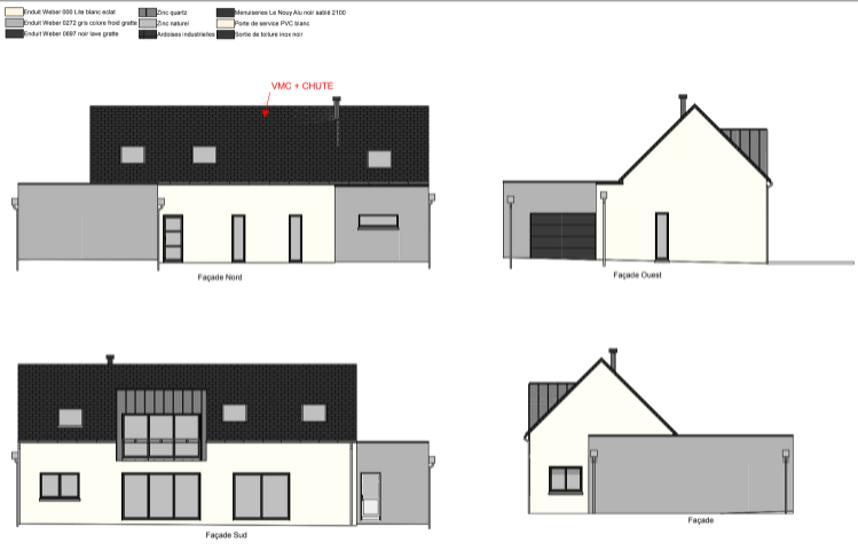 Projet maison sur 2 niveaux avec mezzanine - 155 m² - Sain-Cast-Le- Guildo cl1