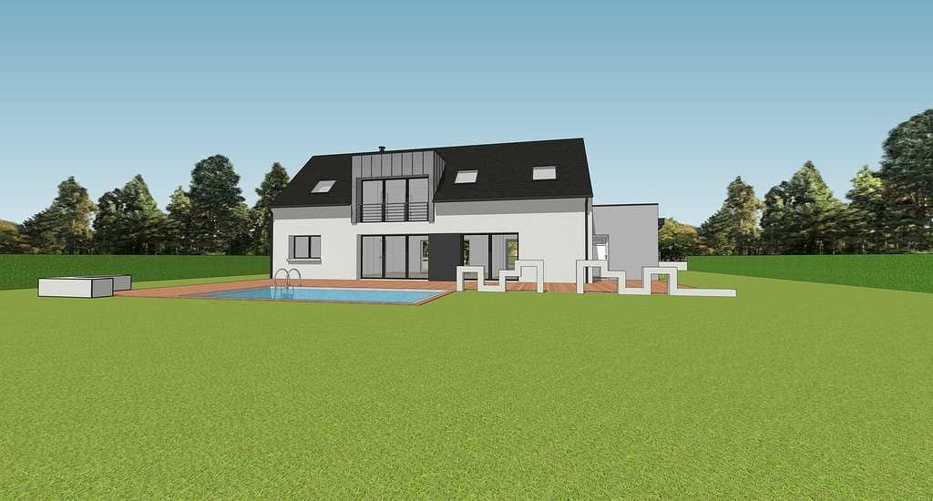 Projet maison sur 2 niveaux avec mezzanine - 155 m² - Sain-Cast-Le- Guildo 0