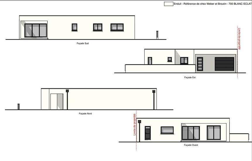 Projet maison contemporaine plain-pied avec atelier - 114 m² - Plérin 0