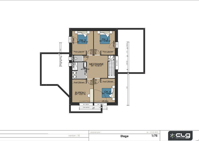Maison contemporaine - 143 m2 - Rostrenen etage