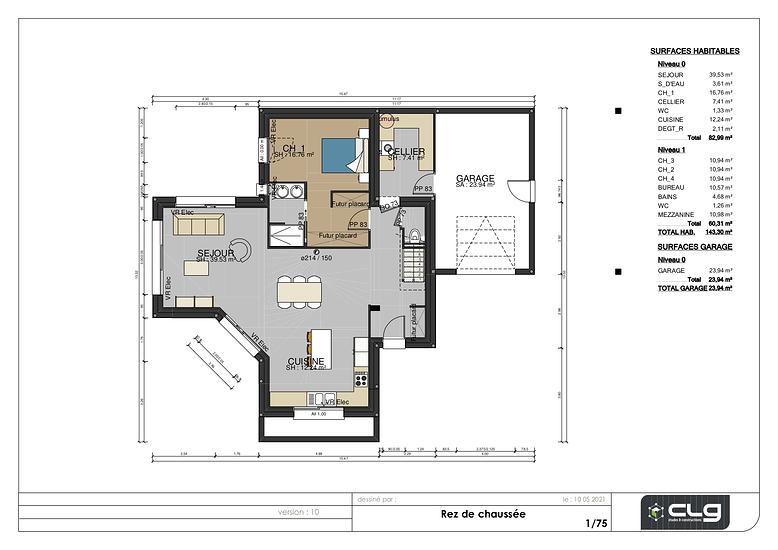 Maison contemporaine - 143 m2 - Rostrenen sanstitre