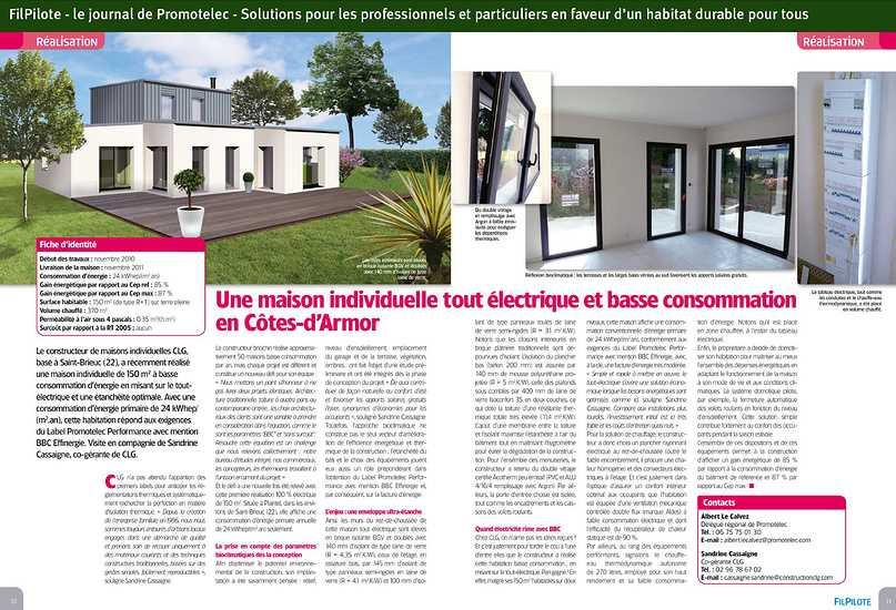 Une maison individuelle tout électrique et basse consommation en Côtes d''Armor 0