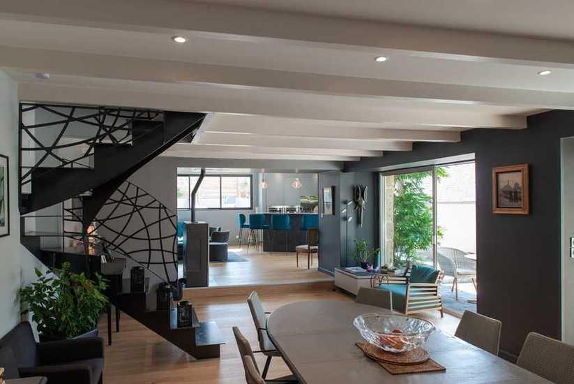 Extension et rénovation intérieur - maison pierre