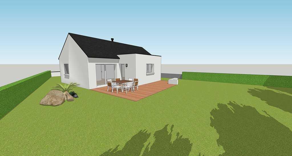 Maison contemporaine - Lanvollon 2bohuloreeeduboislanvollon
